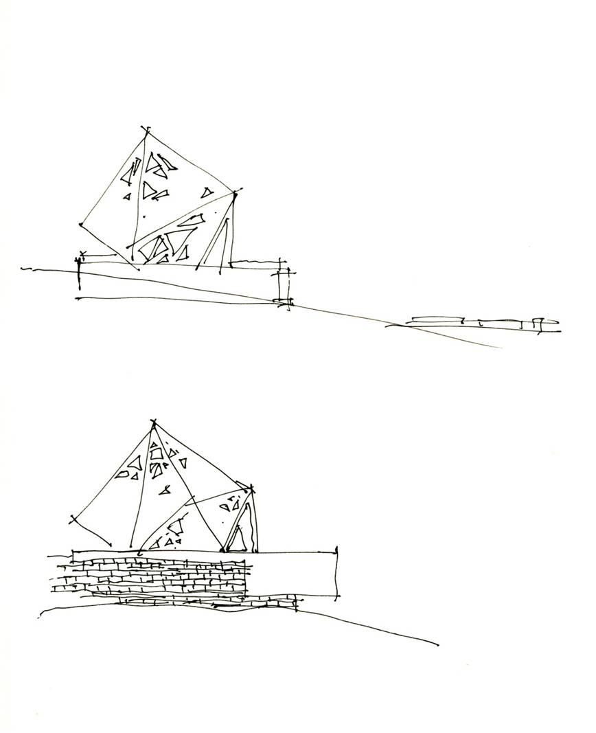 建筑师手绘草图